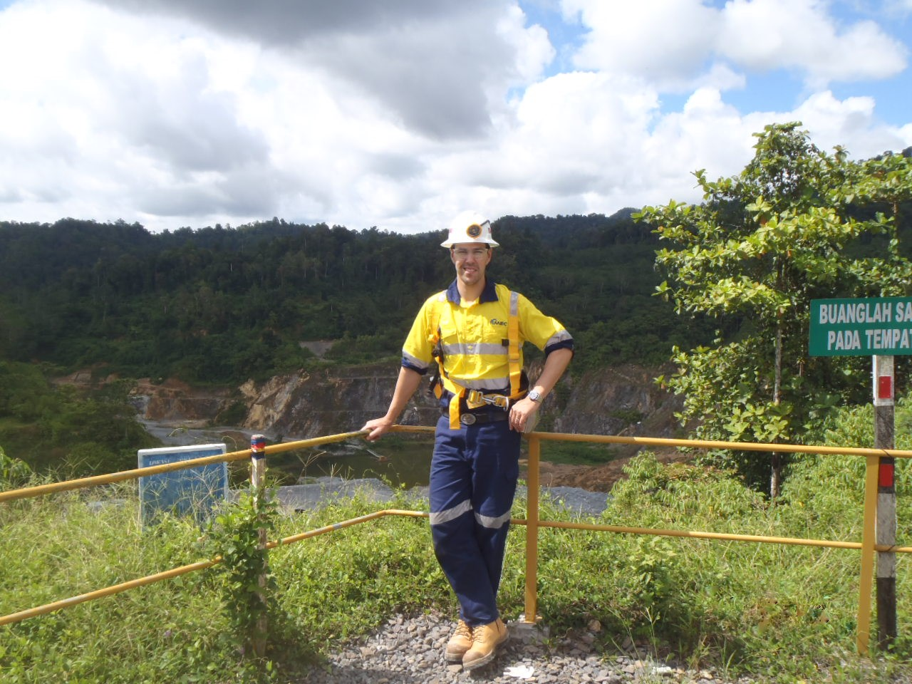 Marty Abbott on a mine site